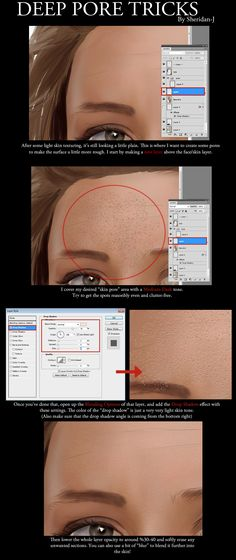 Advanced Skin Pores Tutorial by Sheridan-J.deviantart.com on @deviantART
