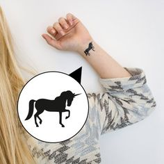 loopdsgn Tattoo Einhorn online kaufen ➜ Bestellen Sie Tattoo Einhorn für nur 2,49€ im design3000.de Online Shop - versandkostenfreie Lieferung ab 50€!