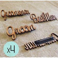 4 Personalised Wood Badges