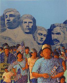 Tony Ortega  La Marcha de los Desvalidos, 2010  Screenprint