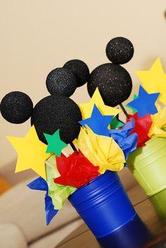 Use beach buckets + mini beach balls?