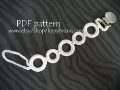 PDF PATTERN for pacifier clip. Permission to sell by lippybrand, $5.50