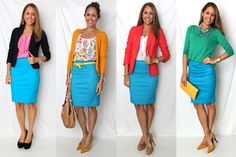 A simple key skirt to go with different tops giving you multiple different variations for outfits.