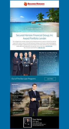 Check out the latest email marketing template we created for Secured Horizon Financial!