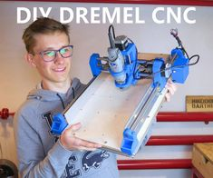 printer design printer projects printer diy Dremel Dremel DIY Printed Dremel CNC: When I got my first printer I was extremely happy . 3d Printing Business, 3d Printing Diy, 3d Printing Service, 3d Printed Fabric, 3d Printed House, Routeur Cnc, Diy Cnc Router, Cnc Woodworking, 3d Printing Machine