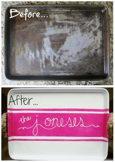How to Make a Serving Tray out of an Old Baking Sheet   The Realistic Organizer