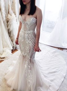 Mermaid Sweetheart Wedding Dresses With Train,Fitted Bridal Gown Corset Back Wedding Dress, Western Wedding Dresses, Sweetheart Wedding Dress, Sexy Wedding Dresses, Cheap Wedding Dress, Bridal Dresses, Mermaid Sweetheart, Mermaid Wedding, Lace Mermaid