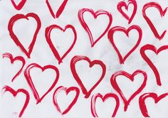 hearts I painted.