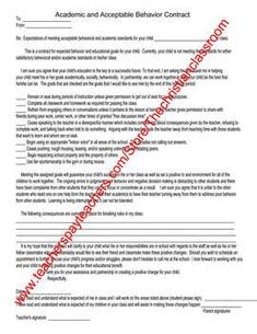 poor behavior letter to parent children s parents and behavior poor behavior unacceptable academics of a student contract for student parents