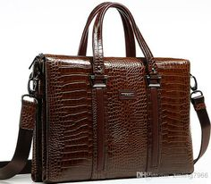 611b28797b Wholesale Shoulder Bags - Buy 100% Handmade head Layer Cowhide Successful Man  Briefcase Luxury Band King High-grade Business Bag High-end Crocodile  Leather ...