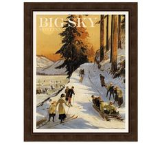 Shop ski posters from Pottery Barn. Our furniture, home decor and accessories collections feature ski posters in quality materials and classic styles. Look Vintage, Vintage Art, Vintage Photos, The Long Dark, Vintage Ski Posters, Big Sky, Vintage Holiday, Pottery Art, Skiing