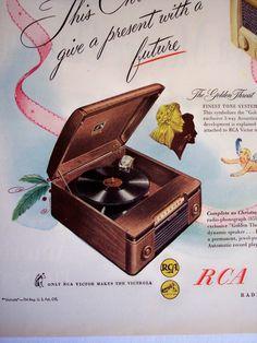 1946 Radio AD RCA Victor radios & phonographs