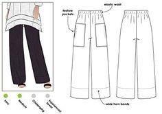 Style Arc Sewing Pattern - Daisy Designer Pant (Sizes 18-30) - Click for Other Sizes Available