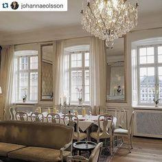 Inför bloggfrukosten möblerade vi om i Salongen. Nu med långbord vid fönstret med utsikt mot Kungsträdgården. #hotellife #hotelkungsträdgården #designhotel #stockholm #stockholmfashionweek #fwstockholm