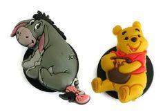 1c2c0c25c Disney Winnie the Pooh and Eeyore Jibbitz Crocs Shoe Bracelet Charm Set of  2  Jibbitz