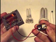 Detector de metales casero reciclando lámpara CFL - YouTube