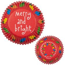 Merry and Bright Baking Cups Mini and Standard $2.09