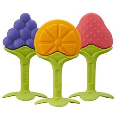 EZ Grip Massaging Teether Fruit and thousands more of the very best toys at Fat Brain Toys. With their unique shapes, flexible design, and soothing textures, these innovative teethers help baby reach all parts of the mouth for . Cool Gifts For Kids, Gifts For Girls, Magnetic Dart Board, Best Baby Toys, Baby Teethers, Baby Girl Gifts, Baby Boy, Big Baby, Baby Gear