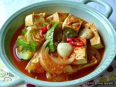 [호박찌개]새우젓을 넣어 부드럽고 달큰,칼칼 호박두부찌개 Korean Dishes, Korean Food, K Food, Food Porn, Bento Box Lunch For Adults, Seafood Recipes, Cooking Recipes, Food Therapy, Asian Recipes
