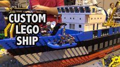 Detailed LEGO Exploration Ship and Dock  | Brick Birmingham 2016