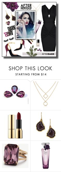 """""""AFTER DARK"""" by tjuli-interior ❤ liked on Polyvore featuring Ciaté, Janna Conner Designs, Ann Taylor, Lancôme and Chanel"""