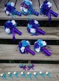 Image result for cerulean blue and purple wedding