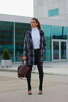 Plaid Coat on Saturday | Negin Mirsalehi