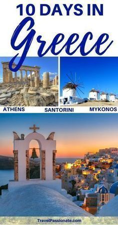 A popular 10 day Greece itinerary Planning a trip to Greece and want to visit the most popular places? Check out my 10 day Greece itinerary that includes Athens, Santorini and Mykonos created by a local. Things to do in Greece in 10 days. Greece Itinerary, Greece Honeymoon, Greece Vacation, Greece Travel, Greece Trip, Visit Greece, Greek Islands Vacation, Food In Greece, Greece Places To Visit