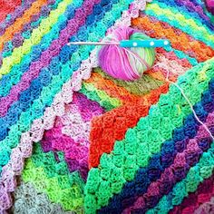 ...happy happy colors!  . #crochet #crochetlove #craftastherapy #c2c #cornertocorner #instacrochet #crochetaddict #crochetersofinstagram #thecrochetcottage2016 by thecrochetcottage