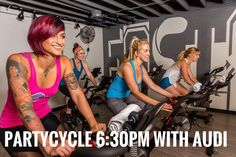 There are a few spots left in Partycycle tonight at 6:30pm @audi_spin 6 Classes for $66 special (must be used in 60 days) Call (619) 795-6892 or go on the Ashley Lane Fitness app to get yours!