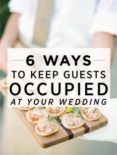 Do your guests a favor and put some serious thought into what they'll be doing while you're off taking pics after the ceremony. Need some ideas? We came up with a few fun ones in the slideshow below..........