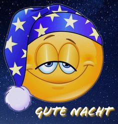 Gute Nacht Smiley