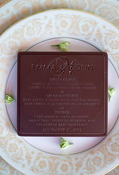 Chocolate Wedding Menu