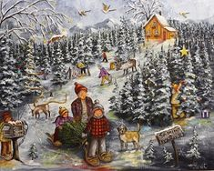 Christmas Jigsaw Puzzles, B Image, Galerie D'art, Winter Art, Winter Scenes, Where The Heart Is, Christmas Art, Home Art, Watercolor