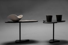 le alzate (footed plate) - design -   stoneware, porcelain, ash glaze