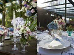 Flores lindas neste casório charmoso