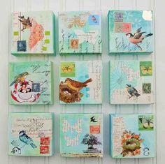 Birds & Butterflies 9 Original Mixed Media von susannajarian