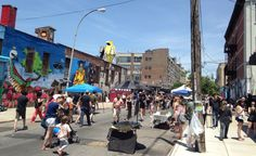 Bushwick Open Studios. Street view, 2014. Photo: BOS.