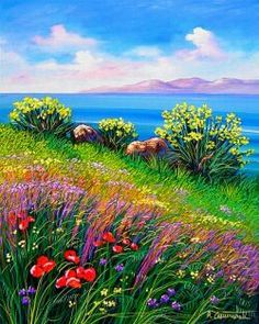 antonino-cammarata__Primavera-con-ginestre_g.jpg × - livelycherry memory - - antonino-cammarata__Primavera-con-ginestre_g. Farm Paintings, Seascape Paintings, Nature Paintings, Spring Landscape, Landscape Art, Landscape Paintings, Beautiful Nature Wallpaper, Beautiful Landscapes, Arte Van Gogh