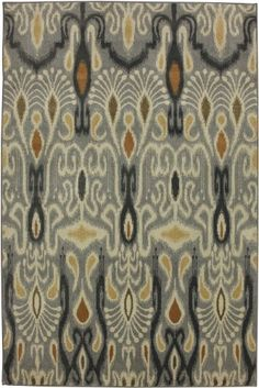 Townhouse Rugs 63-Inch by 94-Inch Area Rug, Dorrego Ikat, Sand Beige by Townhouse Rugs
