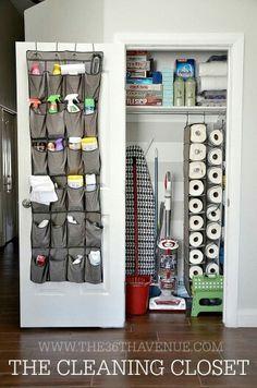 Cleaning closet- fabulous idea!