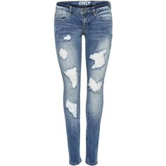 CORAL SL SKINNY FIT JEANS ($67) ❤ liked on Polyvore featuring jeans, pants, bottoms, distressing jeans, distressed skinny jeans, ripped jeans, destroyed denim skinny jeans and destroyed jeans