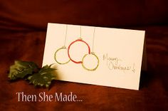 Then she made...: DIY Christmas Cards From Emplty Toilet Paper Rolls