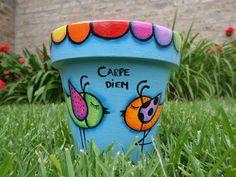 Macetas Quereme Coqueta - Pintadas A Mano - $ 120,00 Clay Pot Projects, Clay Pot Crafts, Fun Crafts, Garden Projects, Painted Plant Pots, Painted Flower Pots, Pottery Painting, Pottery Art, Cactus Clipart