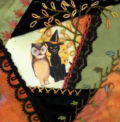 Halloween crazy quilt.......hrt, love.