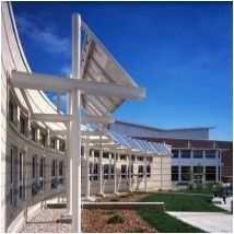 Fossil Ridge High School is LEED Silver Certified and was designed to use 60% less energy than a comparable, baseline high school. The building was expected to reduce energy costs by about one-third relative to comparable schools in the district, saving 60,000 dollars each year.    Electricity- 19.6 kBu/sq.ft and 1.44 watts/sq.ft (summer)