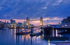 Tower Bridge at Dusk by Christopher Holt - art print from King & McGaw