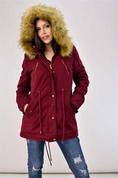 Παρκά με γούνινη επένδυση που αφαιρείται - ΓΥΝΑΙΚΕΙΑ - ΜΠΟΥΦΑΝ | POTRE Canada Goose Jackets, Parka, Winter Jackets, Clothing, Collection, Fashion, Winter Coats, Outfits, Moda