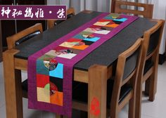 Noble-Chinese-Vintage-Mixed-Silk-amp-Brocade-Square-Pattern-Table-Runner-Bed-Flag
