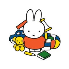 Oversized postcards   Nijntje met speelgoed   Dick Bruna   VEDB001   Childrens book illustrations, Toys, Books, Miffy, Books and Reading, Writing and reading,literature, Bears,